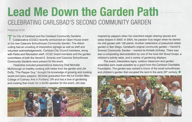 In the News – Carlsbad Community Gardens